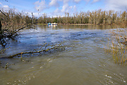 Ferry crossing at Willamette Mission State Park shortly after big ice storm.