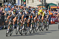 Dimension Data Team inc Steve Cummings of Great Britain during the Tour of Britain 2016 stage 8 , London, United Kingdom on 11 September 2016. Photo by Mark Davies.
