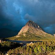 Stormy weather Shurburne lake glacier national park