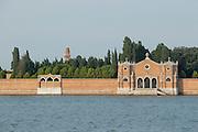 Cemetery on San Michele island, Venetian Lagoon, Venice Italy, Europe