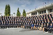 21 AUGUST 2014 - BANGKOK, THAILAND:       The Thai National Legislative Assembly (NLA) poses for their group photo Thursday at the parliament  in Bangkok before selecting a new Prime Minster. The NLA was hand selected by the Thai junta, formally called the National Council for Peace and Order (NCPO), and is supposed to guide Thailand back to civilian rule after a military coup overthrew the elected government in May. The NLA unanimously selected General Prayuth Chan-ocha, commander of the Thai Armed Forces and leader of the coup in May that deposed the elected civilian government, as Prime Minister. Prayuth is Thailand's 29th Prime Minister since the 1932 coup that created Thailand's constitutional monarchy.    PHOTO BY JACK KURTZ