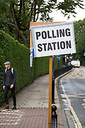 Voters attending a polling station in Tower Hamlets during the UK's EU Referendum Polling Day on June 23rd 2016 in London, United Kingdom. Membership of the European Union has been a topic of debate in the UK since the country joined the EEC, or Common Market in 1973. It will be the second time the British electorate has been asked to vote on the issue of Britain's membership: the first referendum being held in 1975, when continued membership was approved by 67% of voters. The two sides are the  Leave Campaign, commonly referred to as a Brexit, and those of the Remain Campaign who are also known as the In Campaign. (photo by Mike Kemp/In Pictures via Getty Images)