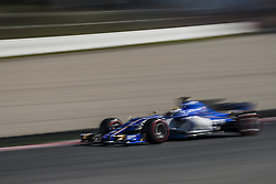 March 1, 2017 - Montmelo, Catalonia, Spain - MARCUS ERICSSON (SWE) drives in his Sauber C36-Ferrari on track during day 3 of Formula One testing at Circuit de Catalunya (Credit Image: © Matthias Oesterle via ZUMA Wire)