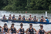 Henley. Berks, United Kingdom. <br /> <br /> Heat of the JW8+, [Oxon] Headington School and Lady Eleanor Holles School, during the 2017 Henley' Women's Regatta. Rowing on, Henley Reach. River Thames. <br /> <br /> Saturday  17/06/2017<br /> <br /> <br /> [Mandatory Credit Peter SPURRIER/Intersport Images]