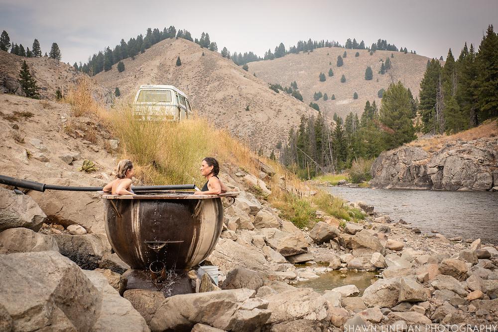 Boat Box Hot Springs outside of Stanley, Idaho