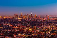 Downtown Los Angeles skyline, California USA.
