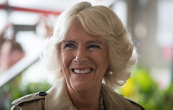 The Duchess of Cornwall arrives at Newquay Fire Station, Cornwall, to meet residents from Tregunnel Hill, a mixed-use neighbourhood built on Duchy of Cornwall land in Newquay comprising open-market and affordable homes.