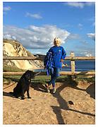 Lynne at Man of War Beach, Lulworth Dorset Jurassic Coast