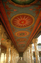 Ceiling paintings at the temple at Madurai; Tamil Nadu; India,
