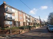 Local authority built former council flats housing in Woodbridge, Suffolk, England