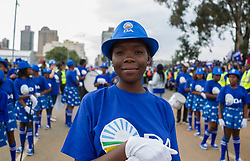 JOHANNESBURG, April 7, 2017  Supporters of the opposition party Democratic Alliance gather in protest against South African President Jacob Zuma in Johannesburg,?South?Africa, on April 7, 2017.?South Africans on Friday marched across the country calling for President Jacob Zuma to step down while his supporters also marched in solidarity with him. (Credit Image: © Yeshiel Panchia/Xinhua via ZUMA Wire)