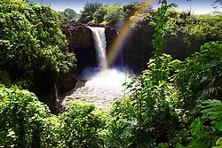 Rainbow Falls, Hilo, Big Island, Hawaii (dm)