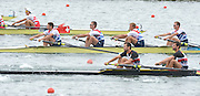 Eton Dorney, Windsor, Great Britain,..2012 London Olympic Regatta, Dorney Lake. Eton Rowing Centre, Berkshire[ Rowing]...Description;   GBR LM4- Bow Peter CHAMBERS, Rob WILLIAMS, Richard CHAMBERS, and Chris BARTLEY, racing in the Semi Final A/B 1 at Dorney Lake. 12:40:10  Tuesday  31/07/2012 [Mandatory Credit: Peter Spurrier/Intersport Images]  .
