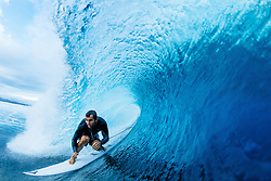 June 6, 2017 - Taverna, Fiji - JOAN DURU of France gets barreled out free surfing on a lay day at Cloudbreak during Outerknown Fiji Pro waiting period. (Credit Image: © Ed Sloane/WSL/Rex Shutterstock via ZUMA Press)