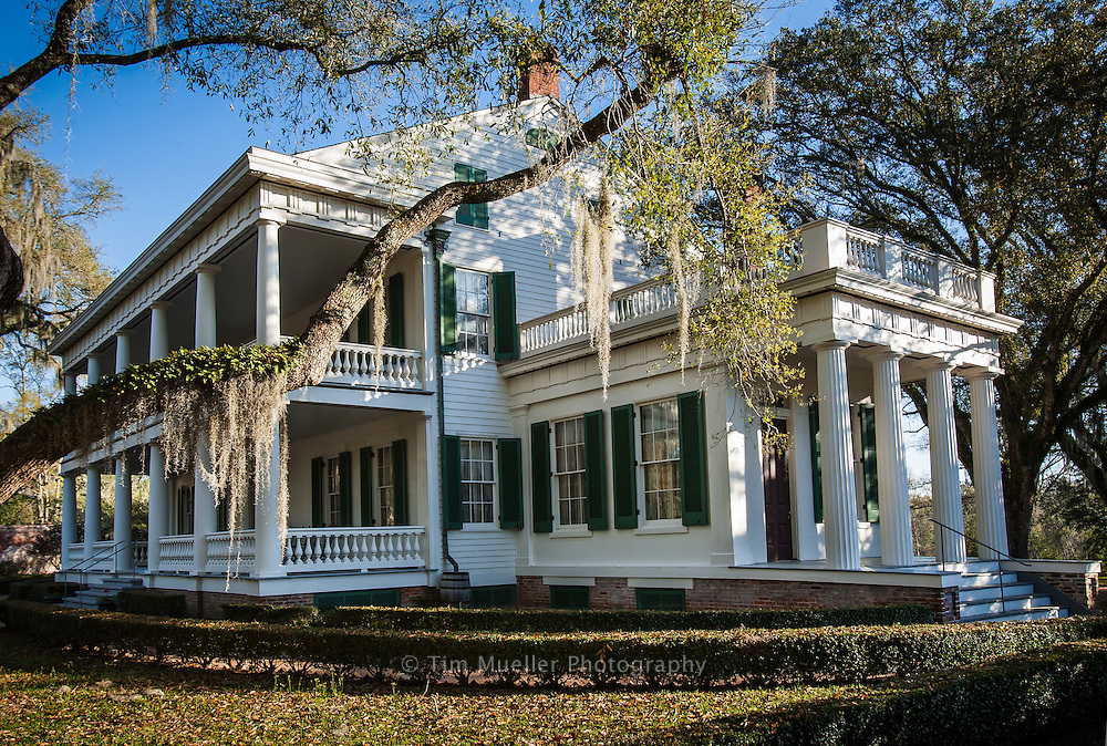 Rosedown Plantation is located in the West Feliciana Parish community of St. Francisville. Daniel and Martha Turnbull began construction on the main house at Rosedown in 1834 and it was completed a year later.