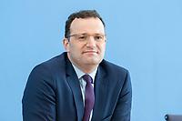 """09 APR 2020, BERLIN/GERMANY:<br /> Jens Spahn, CDU, Bundesgesundheitsminister, Pressekonferenz """"Unterrichtung der Bundesregierung zur Bekämpfung des Coronavirus"""", Bundespressekonferenz<br /> IMAGE: 20200409-01-024<br /> KEYWORDS: BPK"""