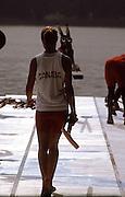 Barcelona,  SPAIN, 1992 Olympic Regatta.  CAN, Kathleen HEDDLE, Lake Banyoles, Nr Barcelona SPAIN,  [Photo, Peter Spurrier/Intersport-images]