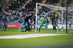 Coventry City's Jordan Willis (third, bottom) scores his side's first goal of the game