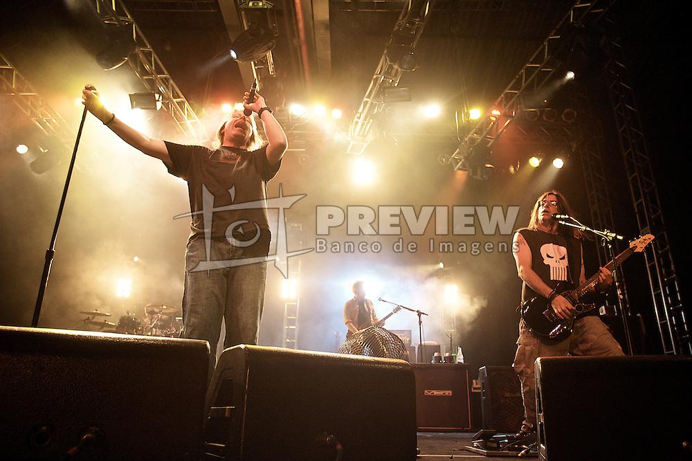 Banda norte-americana de punk-rock, The Offspring, durante o show do grupo em Porto Alegre, no Pepsi On Stage. FOTO: Lucas Uebel/Preview.com
