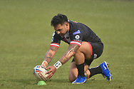 Krisnan Inu (4) of Salford Red Devils during the warm up