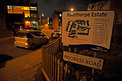 © Licensed to London News Pictures. 27/03/2019. West Norwood,UK.A teenager has been shot dead on the Hainthorpe Estate, West Norwood,London police forensics are on scene. The victim was pronouced dead at the scene. Photo credit: Grant Falvey/LNP
