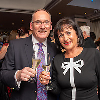 REPRO FREE<br /> Pictured at the opening of the 43rd Kinsale Gourmet Festival at the Blue Haven were Hal McElroy, Trident Hotel and Ann O'Sullivan of Christys Wines.<br /> Picture. John Allen
