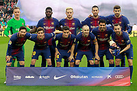 FC Barcelona's team photo with Marc-Andre Ter Stegen, Samuel Umtiti, Ivan Rakitic, Sergio Busquets, Gerard Pique, Leo Messi, Sergi Roberto, Philippe Coutinho, Andres Iniesta, Luis Suarez and Jordi Alba during La Liga match. March 4,2018. (ALTERPHOTOS/Acero)
