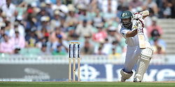 Hashim Amla of South Africa in action during the Investec first test match at the Kia Oval, London.
