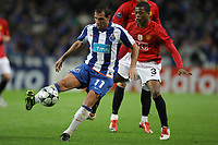 20090415: PORTO, PORTUGAL - FC Porto vs Manchester United: Champions League 2008/2009 Ð Quarter Finals Ð 2nd leg. In picture: Mariano Gonzalez and Evra. PHOTO: Ricardo Estudante/CITYFILES