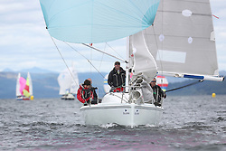 The Silvers Marine Scottish Series 2014, organised by the  Clyde Cruising Club,  celebrates it's 40th anniversary.<br /> Day 1, GBR7052N, More T Vicar, Carl Allen, Royal Forth YC, Hunter 707<br /> <br /> Racing on Loch Fyne from 23rd-26th May 2014<br /> <br /> Credit : Marc Turner / PFM