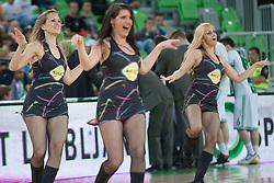 Dragon ladies dance crew during basketball match between KK Union Olimpija and KK Krka in 4nd Final match of Telemach Slovenian Champion League 2011/12, on May 24, 2012 in Arena Stozice, Ljubljana, Slovenia. Krka defeated Union Olimpija 65-55. (Photo by Grega Valancic / Sportida.com)