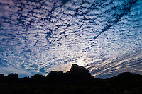 Chisos Mountains in silhouette, Big Bend National Park, Texas USA.