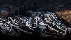 THEMENBILD - Blick auf den Parkplatz an der Talstation aufgenommen am 10. April 2017 am Kitzsteinhorn Gletscher, Kaprun Österreich // View of the car park at the valley station at the Kitzsteinhorn Glacier Ski Resort, Kaprun Austria on 2017/04/10. EXPA Pictures © 2017, PhotoCredit: EXPA/ JFK