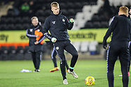 Forest Green Rovers Nathan McGinley(19) warming up during the The FA Cup 1st round replay match between Forest Green Rovers and Oxford United at the New Lawn, Forest Green, United Kingdom on 20 November 2018.