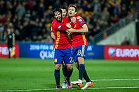 Spain's Isco Nacho Monreal  during the match of European qualifying round between Spain and Macedonia at Nuevo Los Carmenes Stadium in Granada, Spain. November 12, 2016. (ALTERPHOTOS/Rodrigo Jimenez)