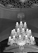 Waterford Glass chandelier at the Gresham Hotel, Dublin on the 20 September 1957.