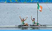 "Rio de Janeiro. BRAZIL. Lightweight men's double sculls, Silver Medalist, IRL LM2X. <br /> Gary  O'DONOVAN and Paul O'DONOVAN, Paul 2016  2016 Olympic Rowing Regatta. Lagoa Stadium, Copacabana,  ""Olympic Summer Games"" Rodrigo de Freitas Lagoon, Lagoa. Local Time 16:37:10  Friday  12/08/2016 <br /> [Mandatory Credit; Peter SPURRIER/Intersport Images]"