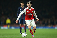 Aaron Ramsey of Arsenal in action. UEFA Champions league group A match, Arsenal v Paris Saint Germain at the Emirates Stadium in London on Wednesday 23rd November 2016.<br /> pic by John Patrick Fletcher, Andrew Orchard sports photography.