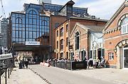 Converted warehouse buildings, Wet Dock, Ipswich waterfront, Suffolk, England, UK