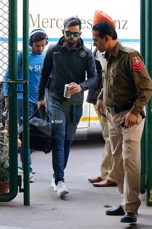 Virat Kohli Captain of India during day 2 of the third test match between India and England held at the Punjab Cricket Association IS Bindra Stadium, Mohali on the 27th November 2016.<br /> <br /> Photo by: Deepak Malik/ BCCI/ SPORTZPICS