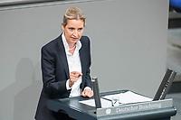 21 MAR 2019, BERLIN/GERMANY:<br /> Alice Weidel, AfD Fraktionsvorsitzende, haelt eine Rede, Bundestagsdebatte zur Regierungserklaerung der Bundeskanzlerin zum Europaeischen Rat, Plenum, Deutscher Bundestag<br /> IMAGE: 20190321-01-105