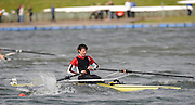 Holme Pierrepont,  GREAT BRITAIN,  K. EMERY, Tyne RC, over comes the conditions to win, the Championship Boys' Single Sculls, at the 2008 National Schools Regatta, Nottingham, , ENGLAND,    Saturday,  24/05/2008  [Mandatory Credit:  Peter Spurrier/Intersport Images]