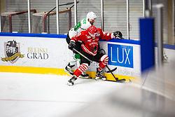 SODJA Jaka vs ROPRET Andraz during summer Hockey League match between HK SZ Olimpija and HDD SIJ Jesenice, on September 12, 2020 in Ice Arena Bled, Bled, Slovenia. Photo by Peter Podobnik / Sportida