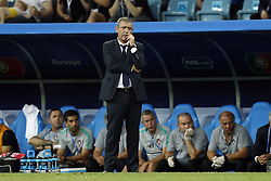 coach Fernando Santos of Portugal during the 2018 FIFA World Cup Russia round of 16 match between Uruguay and at the Fisht Stadium on June 30, 2018 in Sochi, Russia