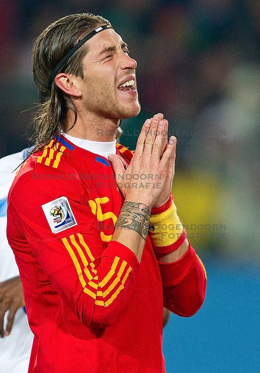 21-06-2010 VOETBAL: FIFA WORLDCUP 2010 SPANJE - HONDURAS: JOHANNESBURG <br /> Sergio Ramos of Spain<br /> ©2010-FRH- NPH/ Vid Ponikva (Netherlands only)