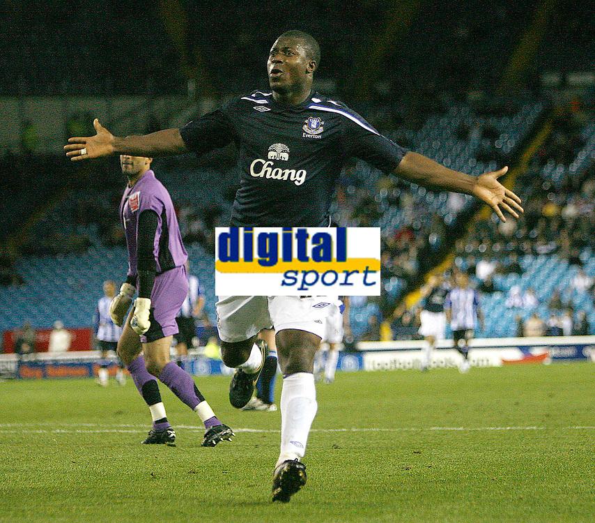 Photo: Steve Bond.<br /> Sheffield Wednesday v Everton. Carling Cup. 26/09/2007. Ayegbeni Yakubu celebrates