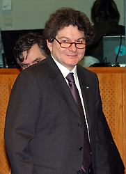 BRUSSELS, BELGIUM - MARCH-07-2005 - Thierry Breton, France's finance minister attends the ECOFIN conference, a meeting of  European Union finance and economic ministers, in Brussels.