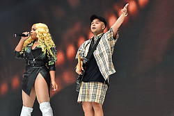 Stefflon Don and Jax Jones during Capital's Summertime Ball with Vodafone at Wembley Stadium, London. This summer's hottest artists performed live for 80,000 Capital listeners at Wembley Stadium at the UK's biggest summer party. Performers included Camila Cabello, Shawn Mendes, Rita Ora, Charlie Puth, Jess Glyne, Craig David, Anne-Marie, Rudimental, Sean Paul, Clean Bandit, James Arthur, Sigala, Years & Years, Jax Jones, Raye, Jonas Blue, Mabel, Stefflon Don, Yungen and G-Eazy
