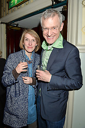 JEREMY VINE and RACHEL SCHOFIELD at the opening night of People, Places & Things at The Wyndham's Theatre, Charing Cross Road, London on 23rd March 2016,