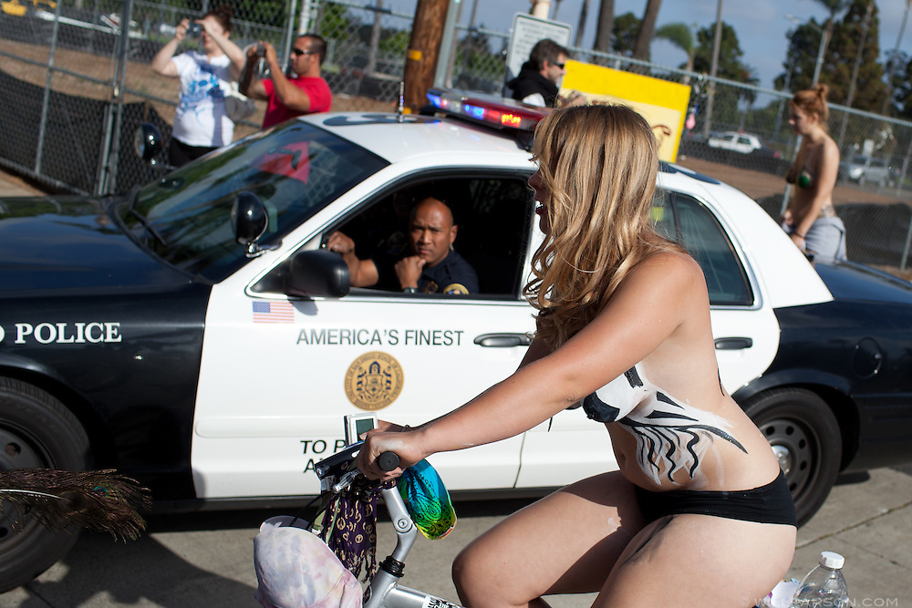 Sara Bush, organizer of the San Diego World Naked Bicycle Ride.